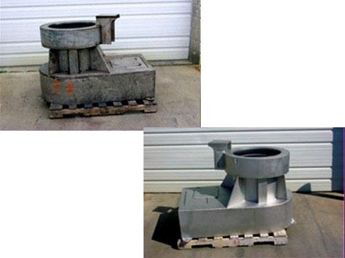 机械设备喷砂除锈效果对比